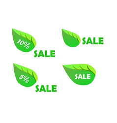 Sale Tag with leaf form vector