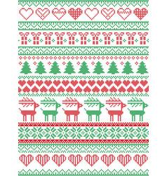 Scandinavian nordic christmas seamless pattern vector