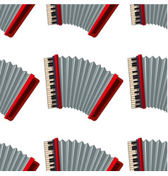 Seamless pattern tile cartoon with accordion vector