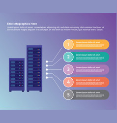 server data center collection infographic vector image