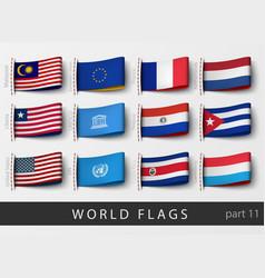 Set flag labels vector