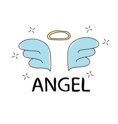 Slogan angel print for t-shirt graphics vector