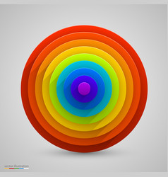 spherical rainbow vector image