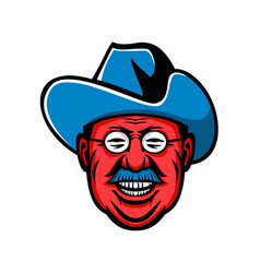 Theodore roosevelt rough riders mascot vector