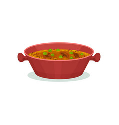Traditional indian cuisine dish vector