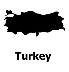Turkey map icon simple style vector