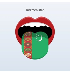 Turkmenistan language abstract human tongue vector