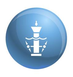 underwater turbine icon simple style vector image