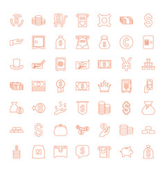 wealth icons vector image
