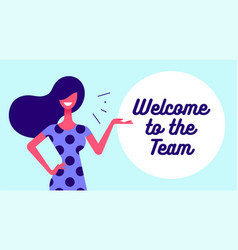 Welcome modern flat character business office vector