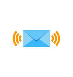 wifi mail logo icon design vector image