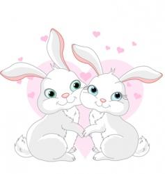 cartoon bunnies vector image