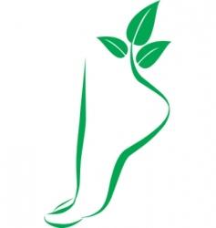 foot symbol element for design vector image