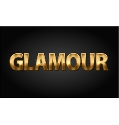 Golden glamour luxury word in black vector image vector image