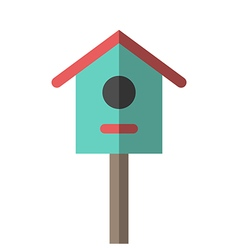 Nesting box or birdhouse vector image