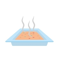 pot chicken food utensils vector image