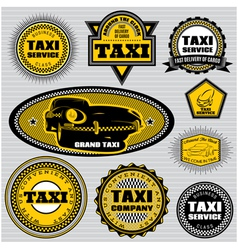 set of labels to topic taxi and trucking vector image vector image