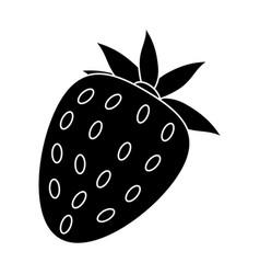 strawberry sweet vitamin nature pictogram vector image