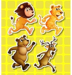 Animals running vector image vector image