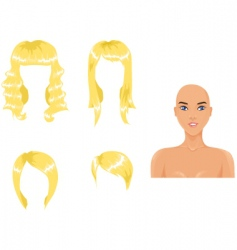 blond hair vector image