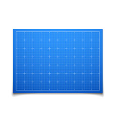Blue isolated square grid with shadow vector image vector image