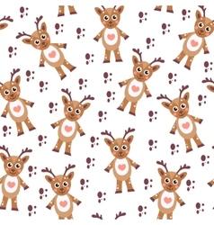 Cute cartoon reindeer seamless texture Children s vector image