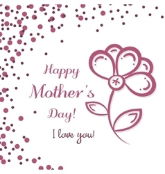 Flower Mothers Day vector image vector image