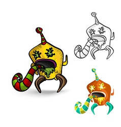 Halloween monsters spooky isolated freaks set vector image vector image