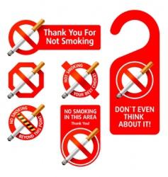 no smoking signs vector image
