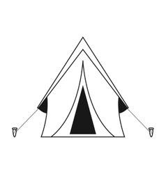 outline tent equipment camping activities vector image