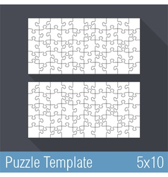 Puzzle Template 5x10 vector image