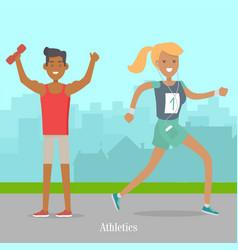 sport banner athletics template summer recreation vector image
