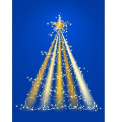 xmas tree illustration in vector vector image vector image