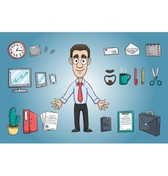 Business man character pack vector
