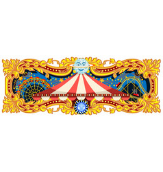 carnival banner circus theme vector image