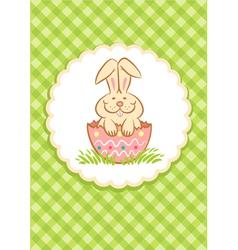 Easter Rabbit green vector image