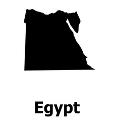 egypt map icon simple style vector image vector image