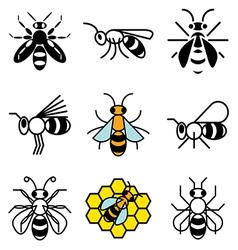 Logo icons bee vector