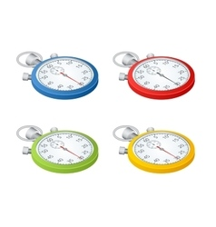 Stopwatch Set of timers Time to work Time is vector image
