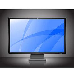 stylish lcd monitor vector image vector image