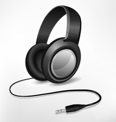 headphones illustration vector image vector image