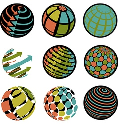 round icons vector image vector image