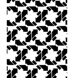Seamless pattern with arrows black and white vector image vector image
