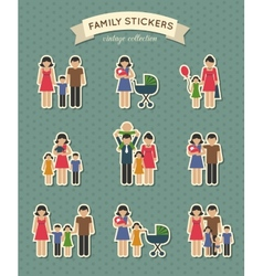 Set of color family icons vector image vector image
