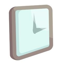 Wall clock icon cartoon style vector