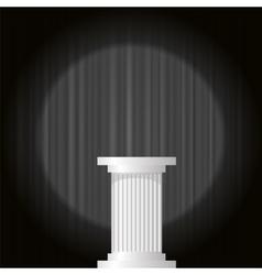 White Marble Greek Column vector image vector image