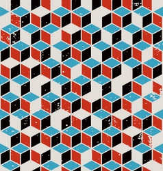 Abstract geometric retro background vector image