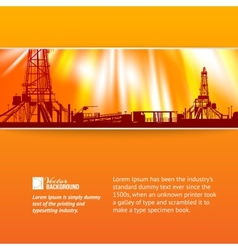 Abstract oil rig background vector