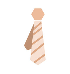 abstract tie icon vector image