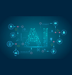ai artificial intelligence concept machine vector image